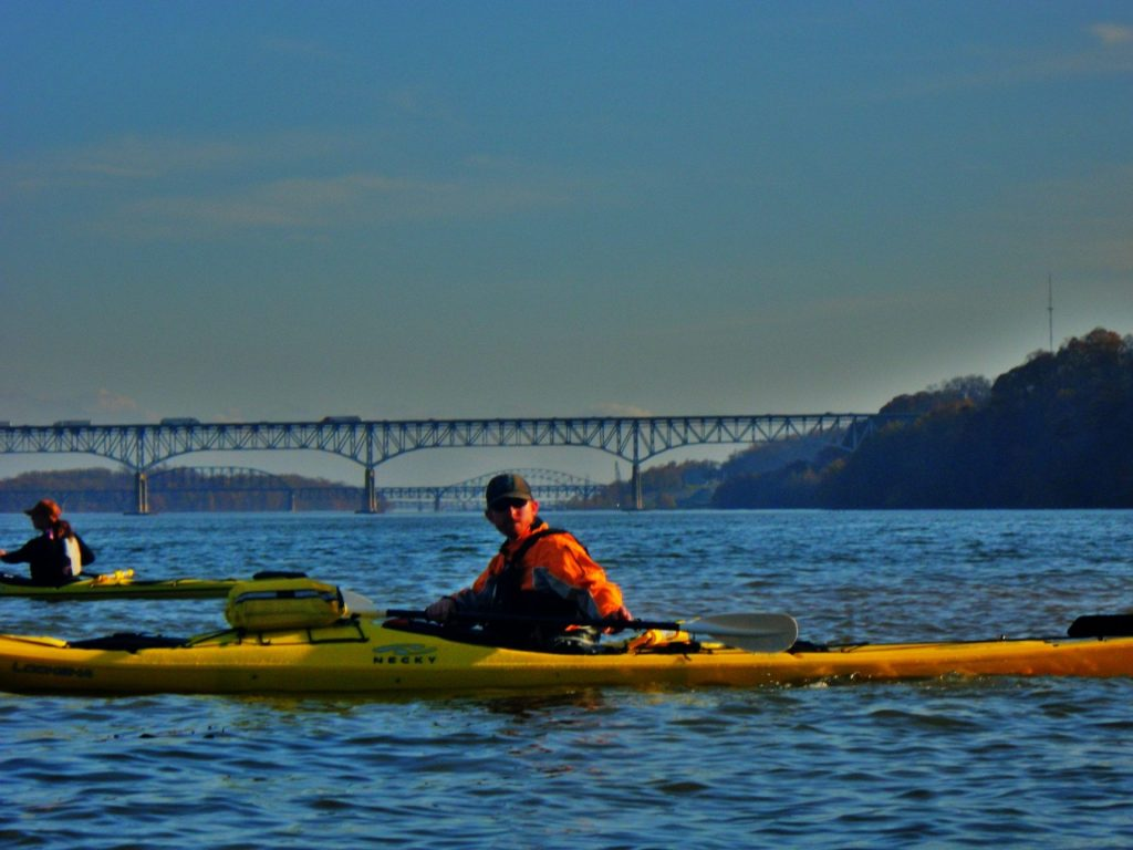 Launching from the put-in on the Susquehanna River.