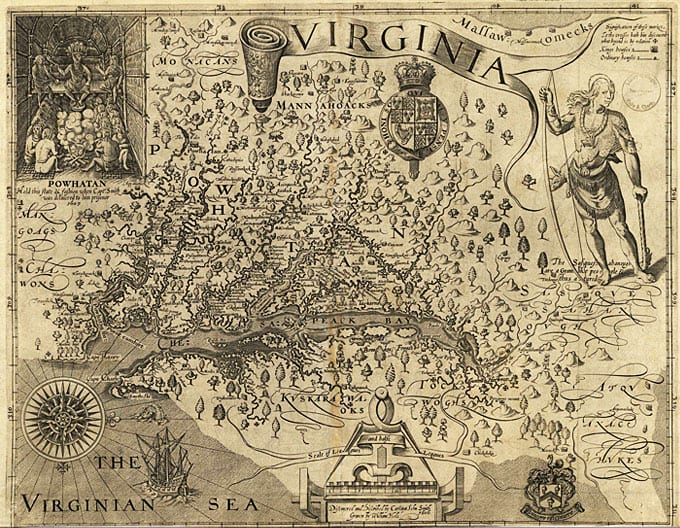 One of the many hats Capt. John Smith wore was that of a map maker. This map of the Chesapeake Region published in 1612 was critically important to early colonists of the region.