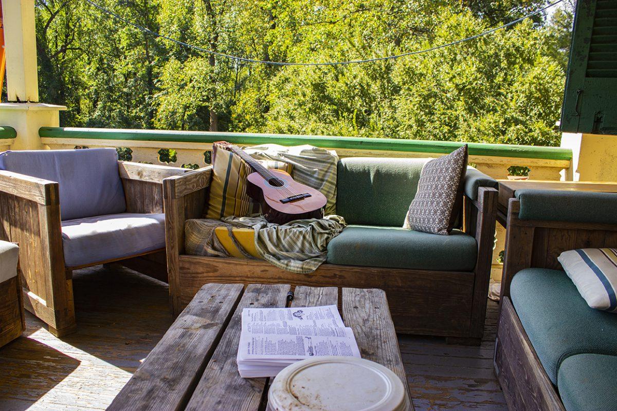 Guitar on porch
