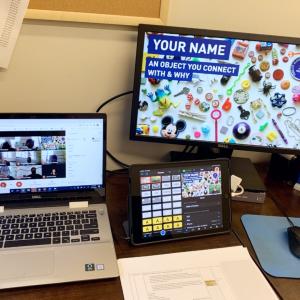 Computer screens showing a virtual program