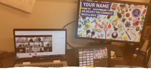 Computers showing a virtual program